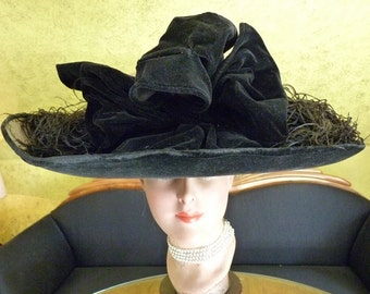 1912 BURGESSER Lampshade Hat, Titanic Era Hat, Antique Hat, Edwardian Hat, antiker Hut, ca. 1912