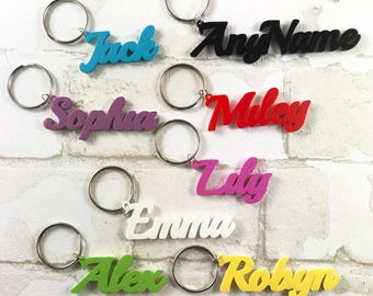 Calligraphy Personalised Name Keyring, Gift, School Bag Tag, School Essentials, Colourful, Name Keychain, Personalised Gift, Name Tag
