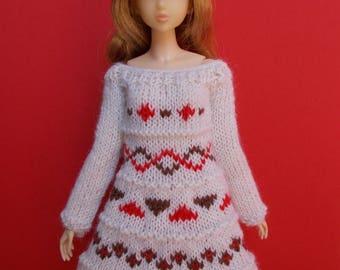 Handmade outfit dress for any kind of dolls (momoko, barbie, fashion royalty, pullip, blythe, bjd...)