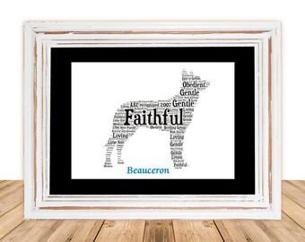 Beauceron,Beauceron Art,Beauceron Artwork,Beauceron Print,Gifts Under 25, Pet Gift, Print, Dog Art, Pet Art, Pet Memorial, Custom Dog