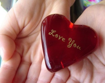 Red Glass Heart Hide and Seek Love Heart Note for Every Holiday #itsthelittlethings