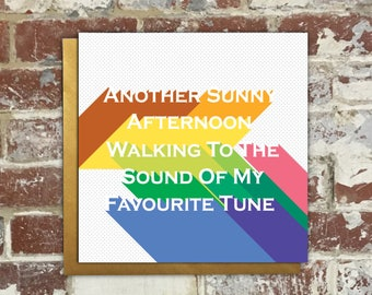 Oasis Birthday Card song lyrics Noel Gallagher Liam Gallagher (What's The Story) Morning Glory? Brit Pop Indie Manchester 90's English Rock