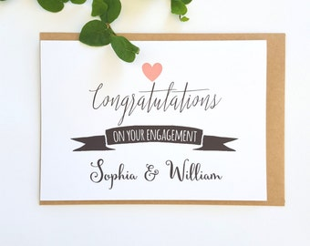 Custom Congratulations on your Engagement card | Romantic Congratulations on your Wedding Day Card | Happy Engagement Card