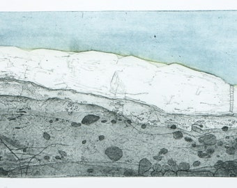"""Heike Roesel """"Between Land and Sea"""", fine art etching, edition of 15, in variation"""