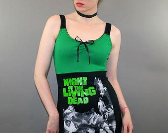 Night Of The Living Dead Horror Movie Zombie Tank Top Dress Shirt