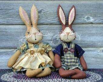 CF173 Waggedy Wabbits - PDF ePattern Cloth Rabbit Doll Pattern