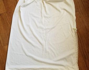 Vintage 1960's Dixie Belle Half Slip Lace Bow White Nylon Medium Lingerie