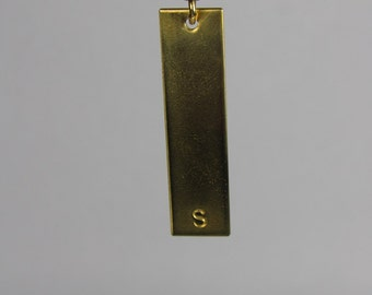 NuGold bar necklace,  hand stamped bar necklace, bar necklace