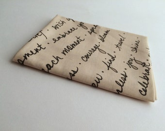 Fat Quarter - Large Handwriting Fabric