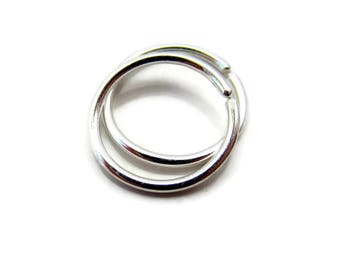 16Gauge Silver Cartilage Earrings or 18Gauge Silver Small Hoop Earrings, One Pair
