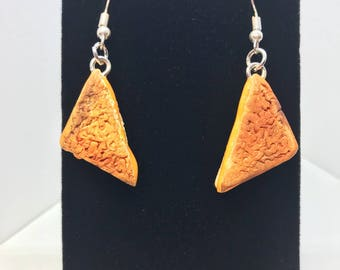 Grilled Cheese Earrings - Dangle - Gift - Birthday - Anniversary - Polymer Clay - Unique - Food Jewelry - Cheese - Sandwich