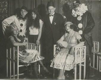 Adult costume party Pierrot mandolin antique masquerade photo