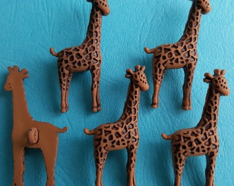 LARGE GIRAFFE - Zoo Animal Africa African Safari Brown Dress It Up Craft Buttons