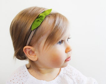 Nylon baby girl headbands - Multiple Colors - Baby Headband - Classic Knot Headband Set