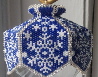 Snow is Glistening Beaded Ornament Cover E-Pattern