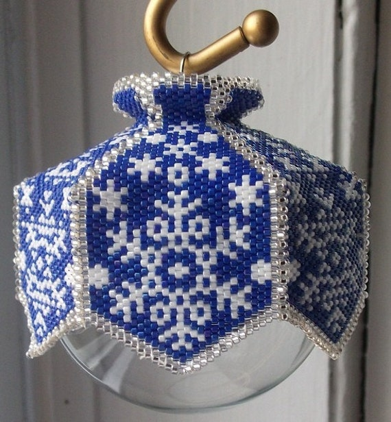 Snow Is Glistening Beaded Ornament Cover E Pattern