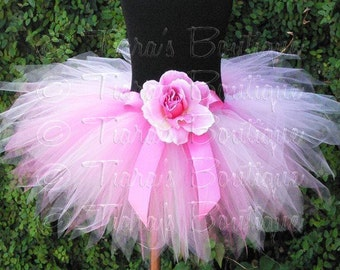 Pink Tutu, Newborn Photo Prop Tutu, Girls Tutu Skirt, Pink Powder Pixie Sewn Tutu, 1st Birthday Tutu, Baby Tutu, Toddler Tutu, Birthday Tutu