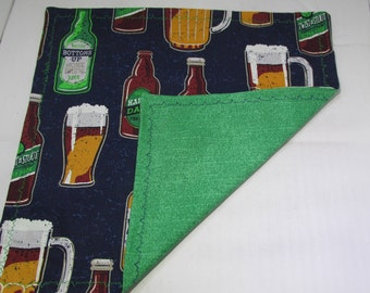Happy Daze // Handkerchief // Gifts for him // Beer Hanky // Hanky // Hanks // Hoosier Hanks // Cotton Handkerchief // Green Handkerchief
