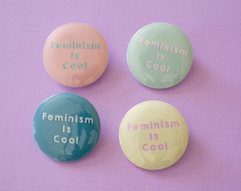 Feminism is Cool Pinback button