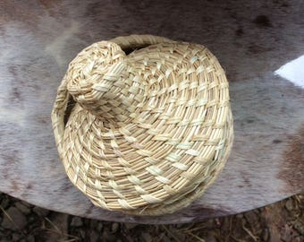 jewelry storage woven basket with lid
