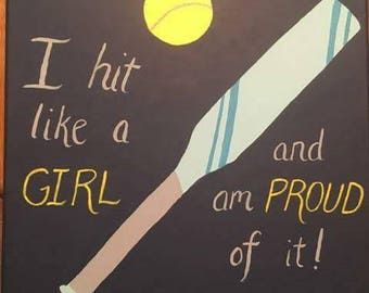 Hit Like a Girl Painting