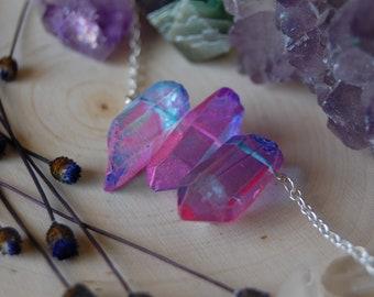 Unicorn quartz trio choker UNICORN SOUL necklace