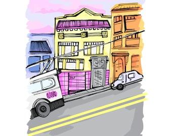 Custom Home Portrait | Custom Drawing | Family Present | Home is where the heart is | Neighborhood | House illustration | Family Gift