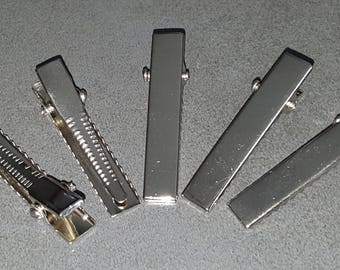 clips with teeth, 100 Alligator Clips, clips silver metal, thin 41 mm aligator clip decorate clips silver clips Alligator Clips