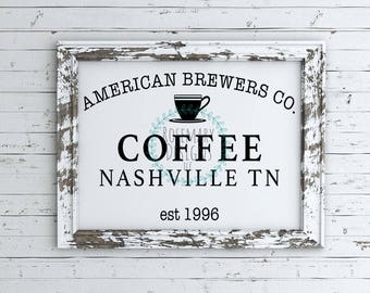 American Brewers Co Coffee SVG
