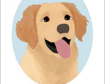 Dog Portrait Series   Golden Retriever
