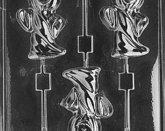Ghost With Pumpkin Head Chocolate Candy Mold with Exclusive FlavorTools Copyrighted Chocolate Molding Instructions H084