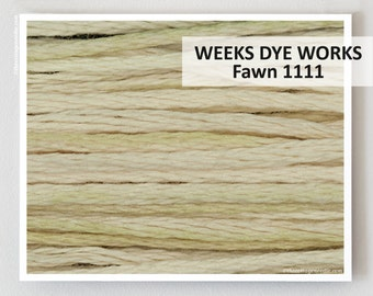 FAWN 1111 Weeks Dye Works WDW hand-dyed embroidery floss cross stitch thread at thecottageneedle.com