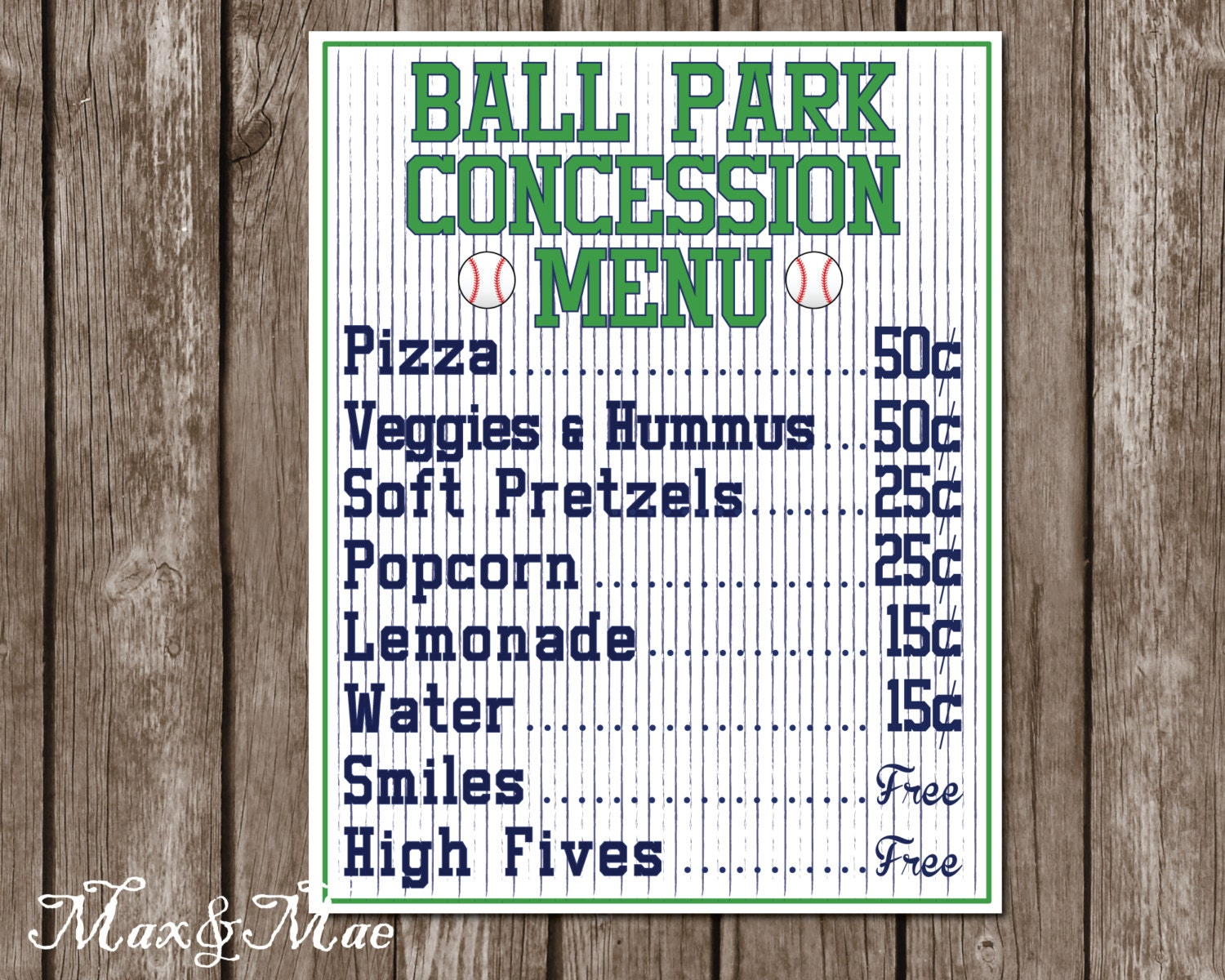 This is a photo of Ridiculous Concession Stand Signs Printable
