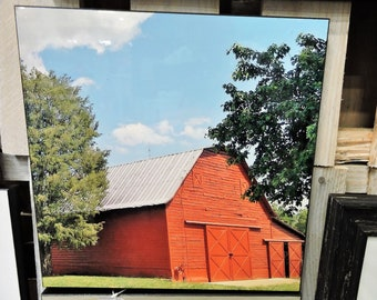 Quaint Country Side Barn 12x12 - Ready to hang wall art