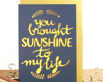 You're my sunshine card, Anniversary card, card for husband, Card for wife, Romantic anniversary card, I love you card, Wedding anniversary