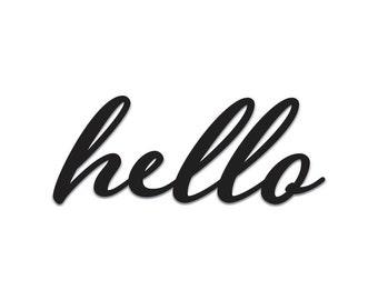 Hello | Word Art Cutout | Wall Art | Wall Decor | Home Decor