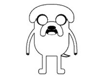 CLEARANCE Adventure time Jake the dog rubber stamp