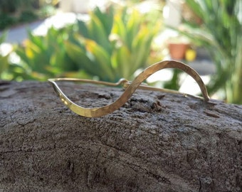 Hammered Bangle, Bracelet, Sterling Silver, or, 16K Gold Fill, Stacking Bangle, Gold Bangle, Silver Bangle, simple bracelet, tiny bracelet