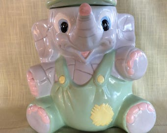 Sweet baby elephant cookie jar canister kitchen storage
