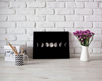 Moon Phases Print, Moon Print, Moon Poster, Moon Wall Art, Wall Art Print, Typography Print, Wall Decor,  Instant Digital Download