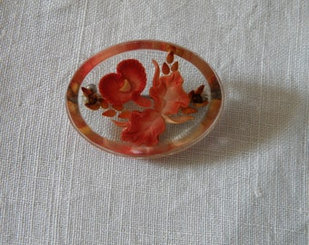 Lively Lucite Orchid Pin