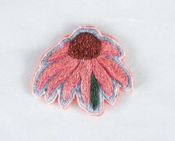 Hand Embroidered Flower Patches