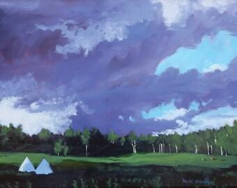 Apache Springs Summer Evening - Philmont - New Mexico - Original Oil Landscape Painting