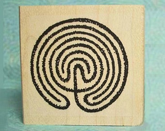 Labyrinth Maze Rubber Stamp #364