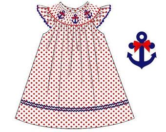 Smocked Anchor Dress
