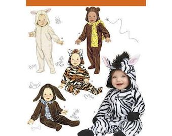 Simplicity 1767 Sewing Pattern Bunny Bear Cat Zebra Dog Jumpsuit Costume for Babies Size 1 thru 18 Months  sc 1 st  Etsy & Zebra costume cat | Etsy