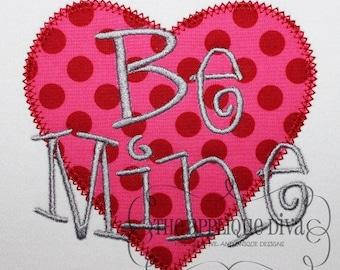 Valentine's Day Be Mine Digital Embroidery Design Machine Applique