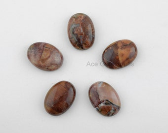 Butterfly Jasper Loose Gemstone, Oval Shape Stone, Jasper Wholesale Stone, Calibrated Gemstone- 5 Pcs.