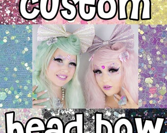 Giant Kawaii Glitter Headbow ~ Made to Order