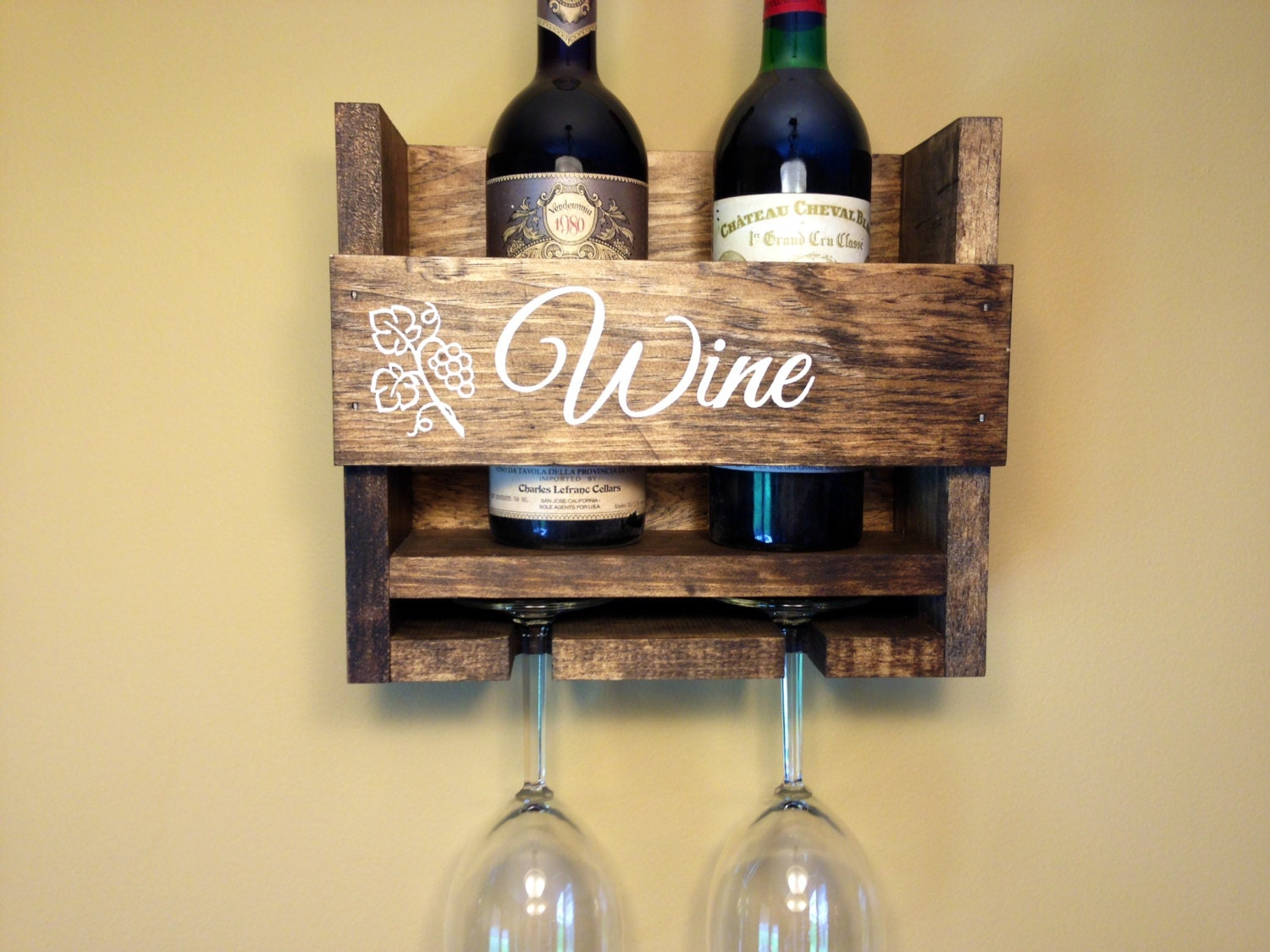 Amazing Wine Bottle Holder Wall Decor Collection - Wall Art ...